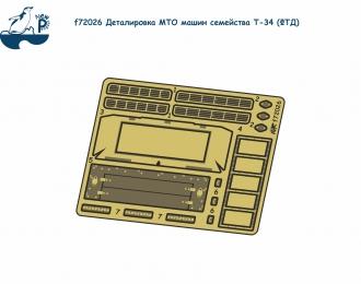 Фототравление Советский средний танк Т-34 (Деталировка МТО)