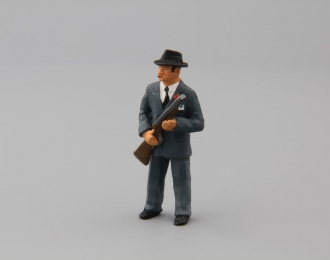 Фигурка Мужчина гангстер (в сером костюме)