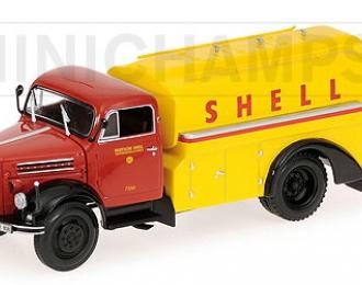 BORGWARD B4500 - tankwagen SHELL, red