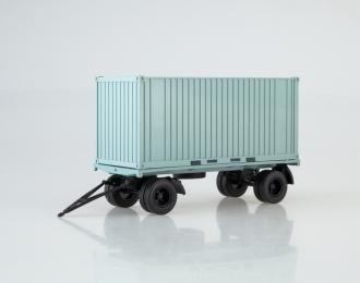 Прицеп ГКБ-8350 с контейнером, голубой