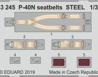 Набор фототравления для P-40N стальные ремни