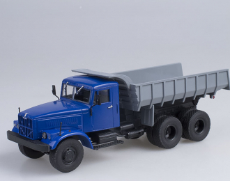 КРАЗ-256Б1 Самосвал, Грузовики СССР 1, синий / серый