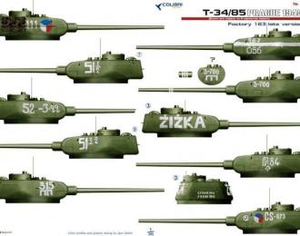 Декаль Т-34/85 (Прага, 1945 год)