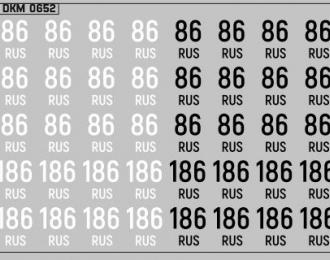 Набор декалей Дублирующие знаки России Ханты-Мансийский автономный округ — Югра (100х70)