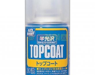 Аэрозольная краска MR.HOBBY Topcoat Semi-gloss Spray 86 мл (в баллоне)