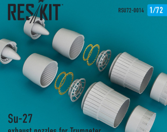 Su-27 exhaust nozzles for Trumpeter