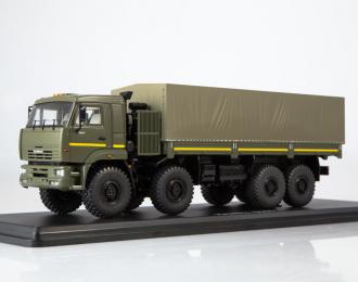 КАМАЗ-6560 бортовой (с тентом) рестайлинг, хаки