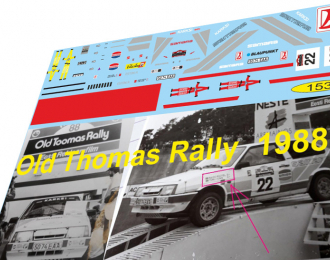 Набор декалей ВАЗ  2108 OLD TOMAS Rally 1988