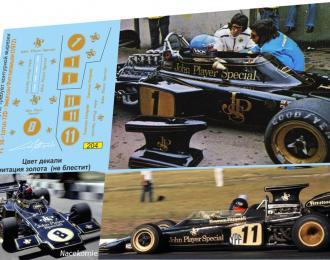 Набор декалей Formula 1 №38 Lotus 72D
