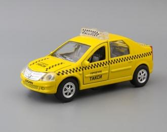 RENAULT Logan Такси, yellow + световые и звуковые эффекты