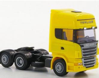 Scania R09 TL трехосный седельный тягач желтый