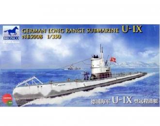Сборная модель German Long Range Submarine U-IX