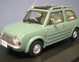 NISSAN PAO 1989, olive gray / green
