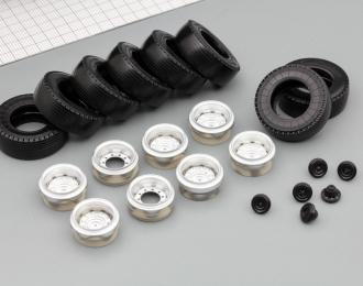 Комплект колес (диски+резина) Евро фура (металлизированные)