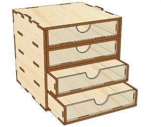 Mini модуль-органайзер на 4 ящика