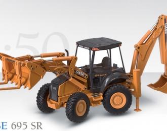 CASE 695 SR Baggerlader mit Tieflöffel und Schaufel