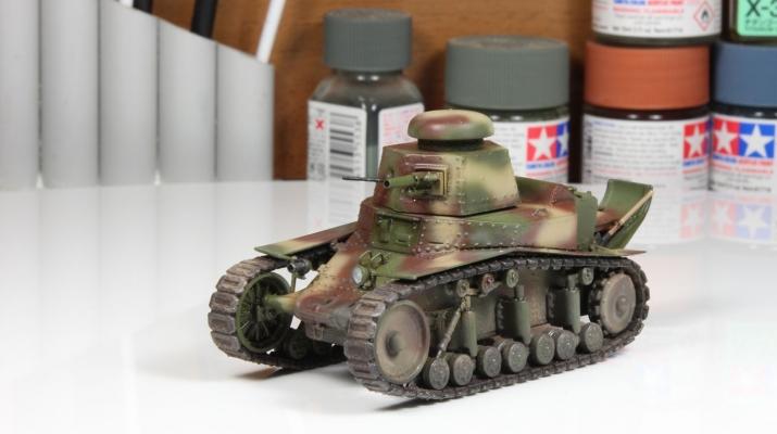 Танк МС-1 (камуфляж, со следами эксплуатации)