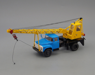 АК-75В автокран (на шасси ЗИL-130), голубой / жёлтый