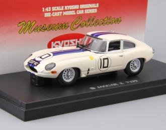JAGUAR E-Type Coupe Racing '62 Le Mans #10, white