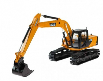JCB JS 220 with bucket, yellow