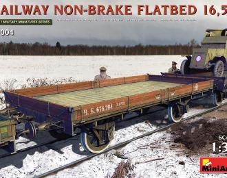 Сборная модель Железнодорожная бестормозная платформа 16,5т