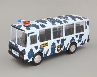 Павловский автобус 32053 ОМОН, темно-синий камуфляж