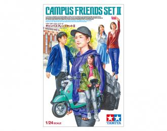 Сборная модель CAMPUS FRIENDS SET II, набор из пяти фигурок людей с мотороллером