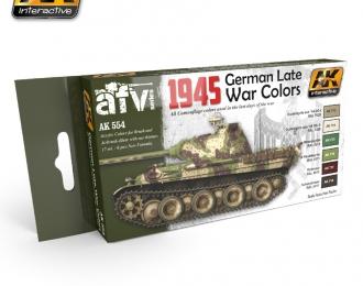 Набор акриловых красок 1945 GERMAN LATE WAR COLORS SET (1945, немецкие поздние цвета)(6 красок)