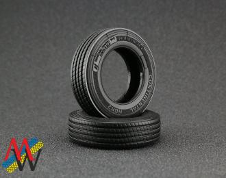 Резина Continental HSR2 / Michelin X line 315/70 R22,5 (передняя), цена за шт.