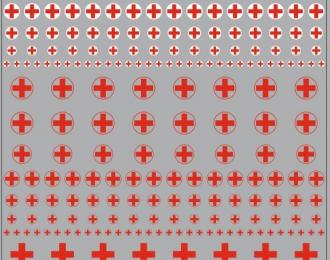 Набор декалей Логотипы скорой помощи (кресты) (100х140)