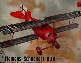 Сборная модель Немецкий истребитель Siemens-Schuckert D.III