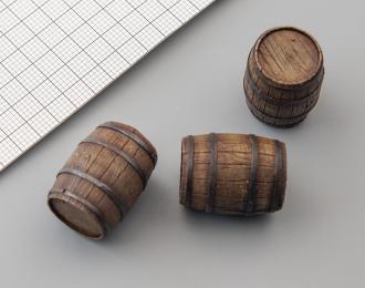 Бочка деревянная (средняя, окрашенная), цена за шт.
