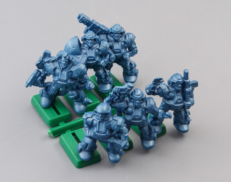 Набор фигурок / солдатиков Бронепехота Протекторат, Тяжелая роботизированная киберпехота