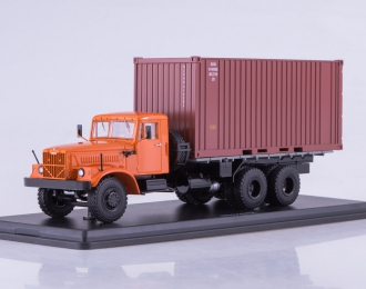 КРАЗ-257Б1 контейнер, оранжевый