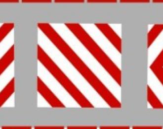 Декаль обозначение габаритов, 95 х 15 мм, ТИП 1