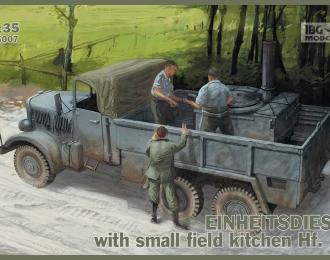 Сборная модель Немецкий грузовой автомобиль Einheitsdiesel Pritschenwagen с легкой полевой кухней Hf.14