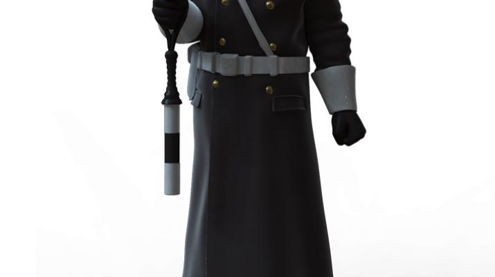 Сборная модель Фигура Инспектор ГАИ №6