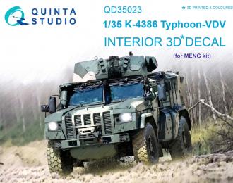 3D Декаль интерьера кабины для семейства К-4386 Тайфун- ВДВ (для модели MENG)