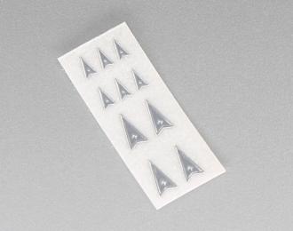 Наклейка объёмная металлизированная логотипы Pontiac