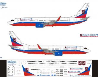 Декаль на самолет боенг 737-800 (атлат-союз)