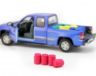 Набор пластиковых евробочек (48 литров) 4 шт, красный