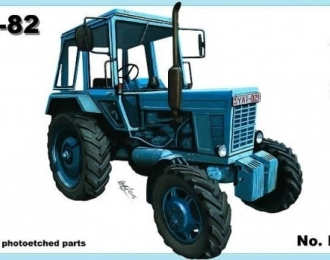 Сборная модель Советский трактор МТЗ-82 Беларусь