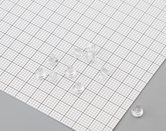 Линзы фар 4,2 мм, комплект 10 шт., прозрачный