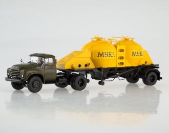 ЗИЛ-130В1 с полуприцепом-муковозом К4-АМГ