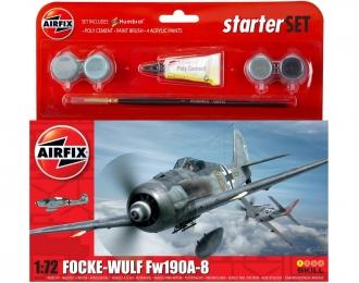 Сборная модель Немецкий истребитель Focke-Wulf Fw-190A-8 (Подарочный набор)