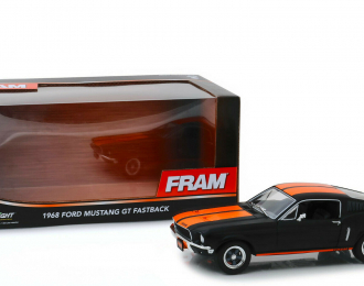 FORD Mustang GT Fastback FRAM Oil Filters 1968 Black with Orange