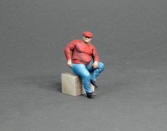 Фигура Мужчина облокотился (масштаб 1:24) Вариант 1, окрашенная