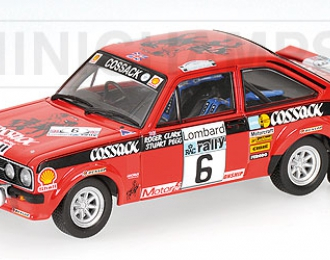 FORD Escort II RS1800 Cossack R.Clark-St.Pegg winners RAC Rally (1976), красный