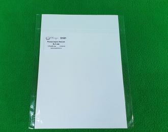 Полистирол белый лист 0,3 мм - 175х250 мм - 3 шт