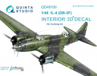 3D Декаль интерьера кабины Ил-4 (для модели Xuntong)